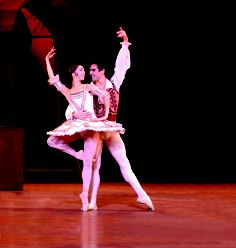 Don Quixote presented by Boston Ballet April 26 - May 6. Pictured: Lorna Feijoo and Yury Yanowsky. Photo: Eric Antoniou