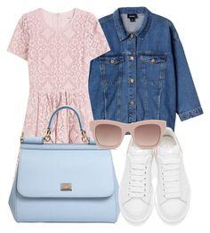 """Lace Dresses"" by yuliasaburova on Polyvore featuring мода, Monki, Burberry, Dolce&Gabbana, Alexander McQueen и STELLA McCARTNEY"