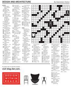Le design s'introduit dans les mots-croisés! Une idée pour la presse-papier?