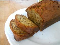 Choose your favorite flour, milk, and egg replacement and fold some of the suggested fruits and seeds inside your banana bread recipes.