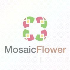 Exclusive Customizable Logo For Sale: Mosaic Flower | StockLogos.com
