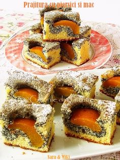 Peach cake (in romanian)