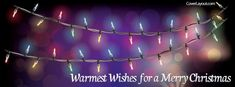 Warmest Wishes For A Merry Christmas Facebook Cover