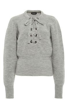 Isabel Marant Charley Lace-Up Wool Sweater, $765; modaoperandi.com