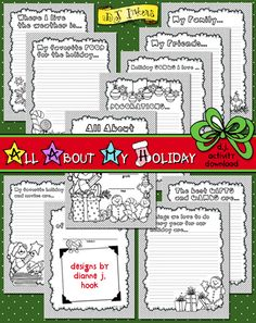 Our NEW seasonal journal, 'All About My Holiday', includes over 10 pages of fun topics for kids to write (or draw) all of their favorite things about the holiday season! Perfect for parents, grandparents, and even teachers!!