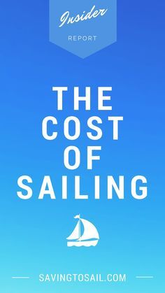 The Cost of Sailing – How Much It Costs Us to Live on a Sailboat Sailboat Living, Living On A Boat, Liveaboard Sailboat, Liveaboard Boats, Build Your Own Boat, Sailing Adventures, Boat Stuff, Set Sail, Small Boats