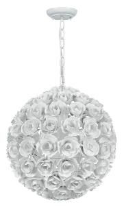 White Wrought Iron Chandelier-FREE SHIPPING! $423.00 (USD) from www.wellappointedhouse.com