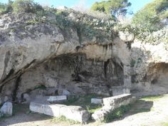 lady-of-honey: Ruins of a small sanctuary of Hades in Eleusis. The santuary was built next to the cave that was believed to be the entrance to the Underworld.