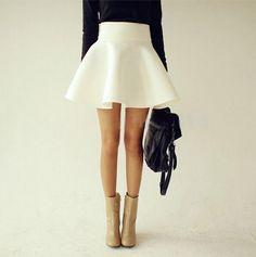 Saias Curtas Spring Summer Autumn Plus Size Women Tutu Skirts White Vintage High Waist Flared Puff Mini Skater Ball Skirt Cute Skater Skirts, Cute Skirts, Mini Skirts, Cheap Skirts, Pleated Skirts, Fashion Moda, Love Fashion, Fashion Outfits, Womens Fashion