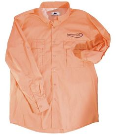 Our Tangerine Long Sleeve Fishing Shirt is perfect for a day on the boat! #FishingShirts https://www.southernlure.com/collections/fishing-shirts/products/tangerine-long-sleeve-fishing-shirt
