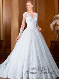 cool vestidos de casamento noiva 2015 Long Sleeve Lace Beading Marriage Bridal Wedding Dress New Design Custom Made RX1