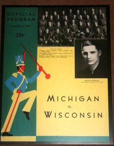 Michigan Wolverines Football Vintage game day program Poster 11 x 14 | eBay