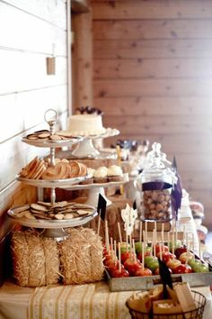 dessert bar. instead of candy bar, you have the moms make all their delicious bars and serve that instead of candy!
