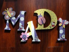 Personalized Hanging Wood Name