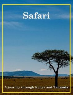 Safari in Kenya and Tanzania - great online magazine - free. Great reading and lessons for the kids