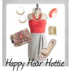 Happy Hour Hottie, created by julia-runner on Polyvore featuring the Stella & Dot - Chantilly Lace Cuff