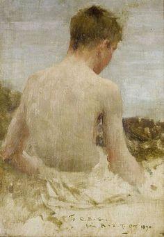 Henry Scott Tuke Back of a Boy Bather http://templeofapelles.tumblr.com/post/137105270724/henry-scott-tuke-back-of-a-boy-bather by https://j.mp/Tumbletail