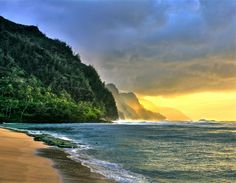"""Kee Beach"" by Chuck 55 #flickr #hawaii #sunset #kauai"