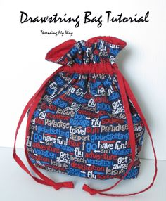 Easy Drawstring Bag Tutorial