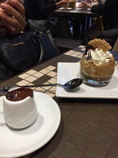 Coffee with cream and Ciocolato Italiani
