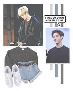 """""""Mark Tuan"""" by lazy-alien ❤ liked on Polyvore featuring NIKE, adidas Originals, mark, GOT7 and marktuan"""