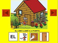Este material nos parece interesante para trabajar el lenguaje con niños que tienen alguna dificultad a la hora de leer. Consta de proyectar un cuento estructurando cada frase con pictogramas y nexos utilizando distintos símbolos y facilitándoles la comprensión de la lectura.