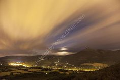 The Great Sugar Loaf, Wicklow, Ireland, by Moonlight.