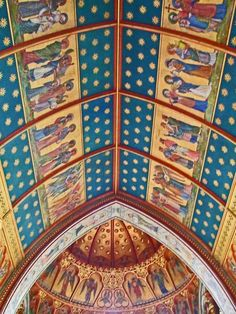 The chancel ceiling