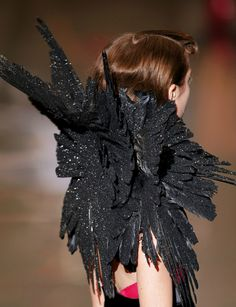 Alexander McQueen  No one in the world can stop you from wearing a big pile of crows.
