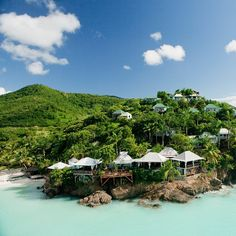 """COCOS HOTEL, ANTIGUA: A small romantic and unique collection """"real"""" Caribbean cottages with panoramic views and private secluded beaches."""