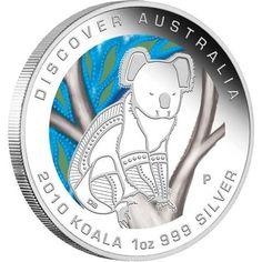 Discover Australia 2010 Dreaming � Koala 1oz Silver Coin