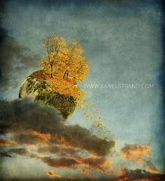 Fantasy art print surreal photo fall foliage by kanelstrand, $25.00