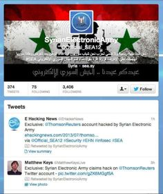La cuenta de Reuters en Twitter, hackeada