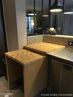 création d'une verrière, réaménagement d'une cuisine
