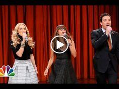 Jimmy Fallon, Rashida Jones & Carrie Underwood Holidays Parody Katy Perry, Miley, Lorde