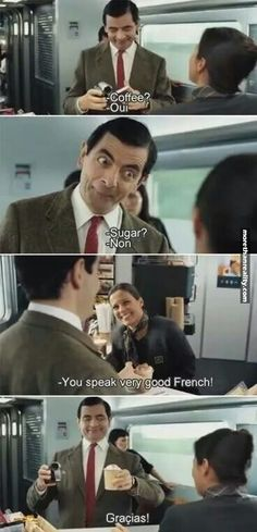 Mr. Bean is master of french
