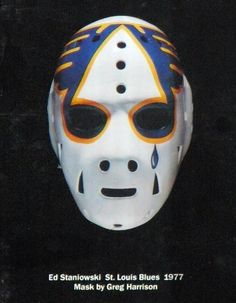 I was digging through the closet again and noticed a lot of mask stuff that hadn't received a lot of appreciation recently. Hockey Helmet, Hockey Goalie, Hockey Players, Ice Hockey, St Louis Blues Goalies, Blues Nhl, Goalie Mask, Best Masks, Good Old Times