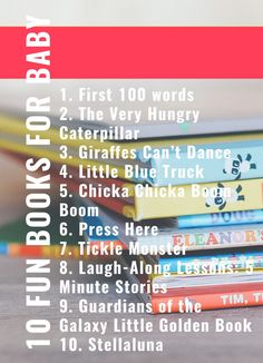 Fun books for baby and mom *Post may contain affiliate links* Read a new book This week we are making a special effort to pull some different books off the shelf for baby. Reading a new book with different pictures is the perfect way to have more fun throughout the day. My little guy loves