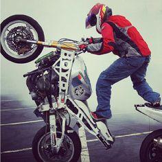 Haha so cool  #wheelie #stuntride #motorcycle
