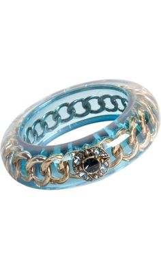 Lanvin Les Marquises Resin & Strass Bangle from Barneys.com