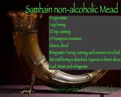 Witchcraft Supply, Ritual Supplies, Soaps,Bath Products by FreyasEarthlyDelight Non-alcoholic Mead for Samhain or Halloween! Mabon, Beltane, Halloween Hacks, Samhain Recipes, Samhain Ritual, Viking Food, Mead Recipe, Soul Cake, Pen & Paper