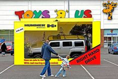 """How can Hummer make adults feel like kids in a toy store? Why not use a life-sized """"toy car""""."""