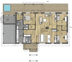 Beach House, House Plans, Sweet Home, Floor Plans, Exterior, Flooring, Architecture, Ideas, Beach Homes