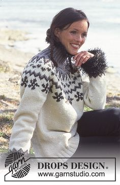 Women - Free knitting patterns and crochet patterns by DROPS Design Knitting Patterns Free, Knit Patterns, Free Knitting, Sewing Patterns, Drops Design, Raglan Pullover, Icelandic Sweaters, Fair Isle Pattern, Fair Isle Knitting