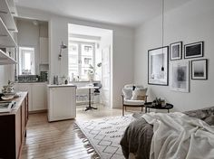 Uber small but very charming Scandi apartment