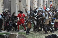 Representación de un Tercio durante el combate por parte del grupo «Tercio Viejo de Lombardía 1525-1560». Asociación Napoleónica Valenciana