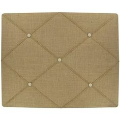 Add bright floral embellishments to dress up this burlap memo board!  | Shop Hobby Lobby