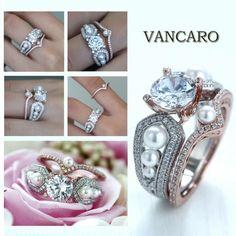 Vancaro pearl diamond engagement ring