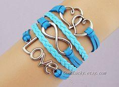 Braceletleather braceletLove braceletinfinity by goodlucky on Etsy, $10.99