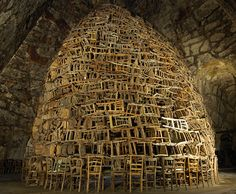 Tadashi Kawamata  Cathedral of Chairs